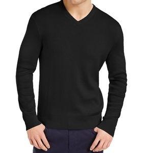 Calvin Klein dark charcoal v-neck sweater sz L